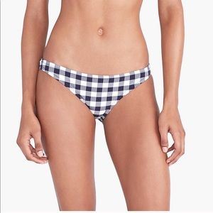 J by J Crew Swim Gingham Print Bikini Bottom